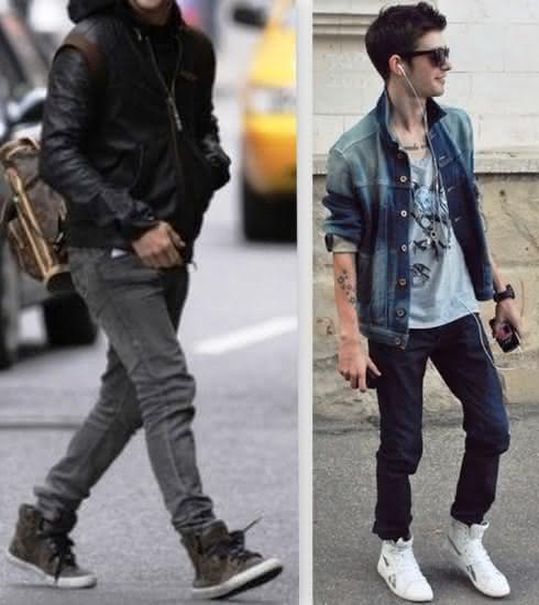 modelos Tenis cano alto masculino