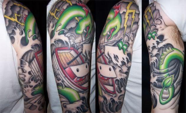 Tatuagens de meia manga1