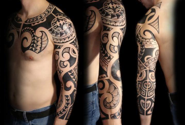 tattoo-arm-shoulder-tribal-maori