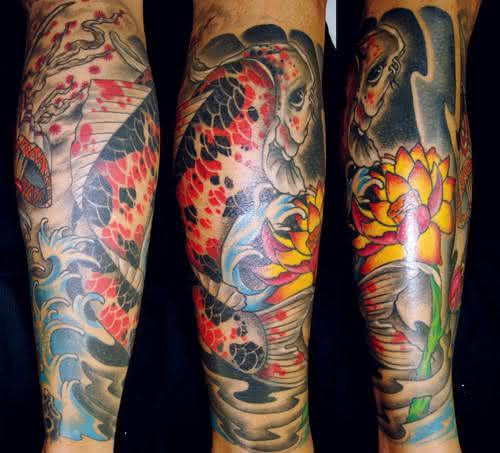 tatuagem-carpa-na-perna