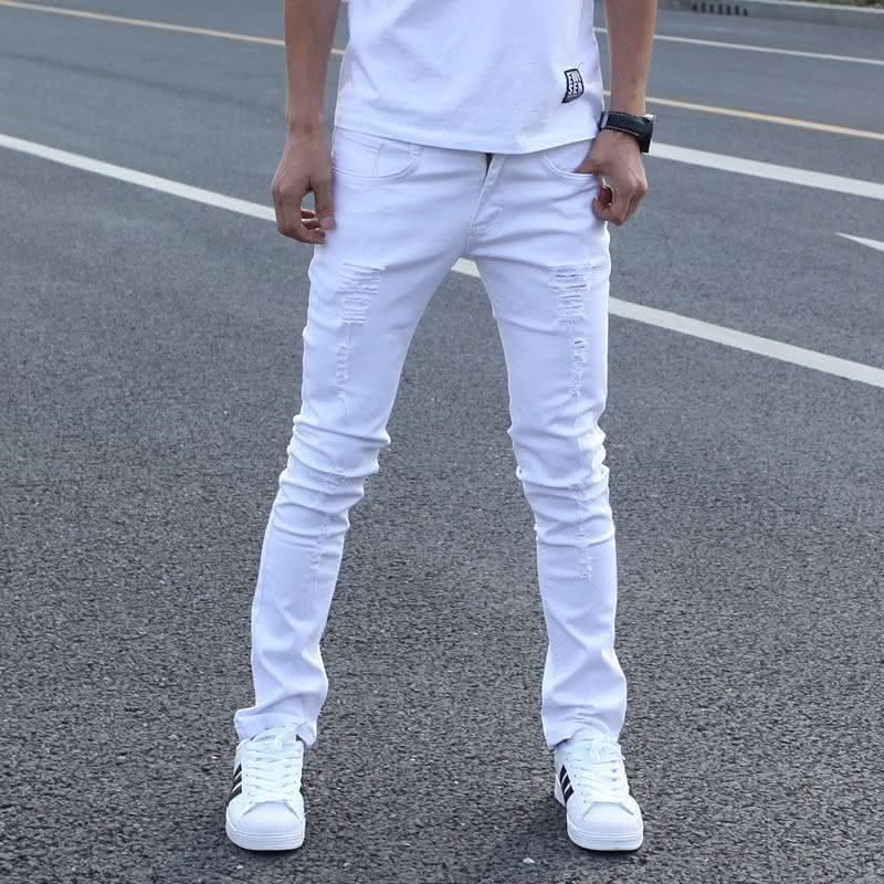-font-b-Hot-b-font-Sell-White-Ripped-font-b-Jeans-b-font-Men-With