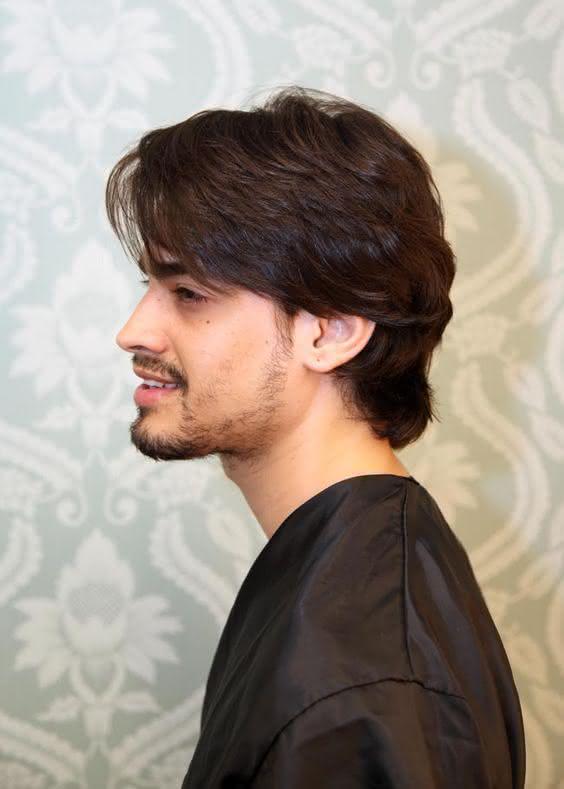 Franja masculina lateral