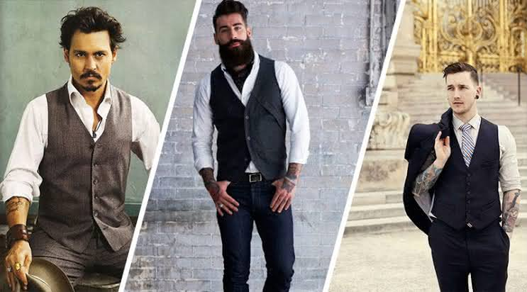 Looks vintage masculino 2020 com colete