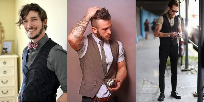 Looks vintage masculino com colete